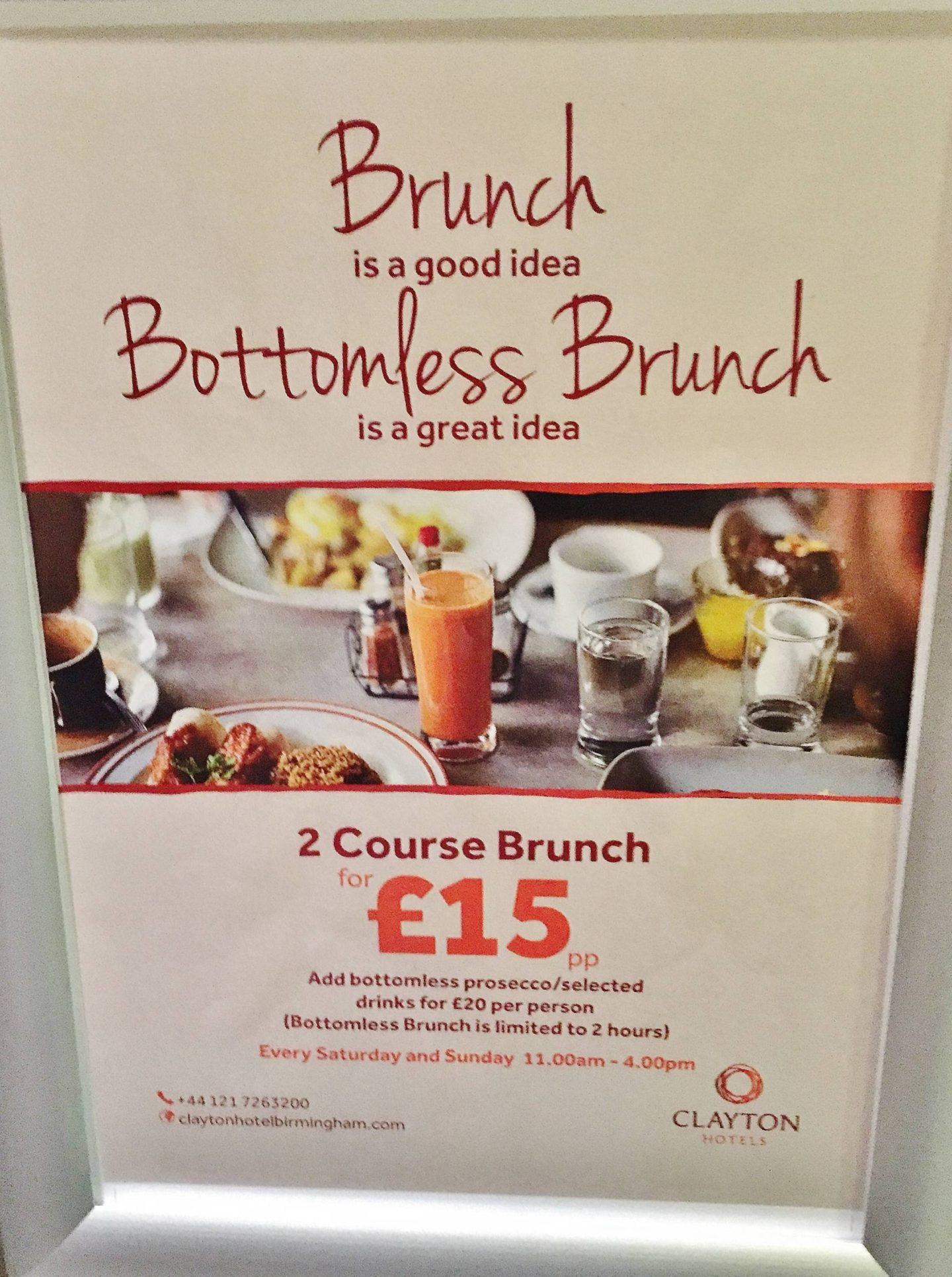 Clayton Hotel Bottomless Brunch