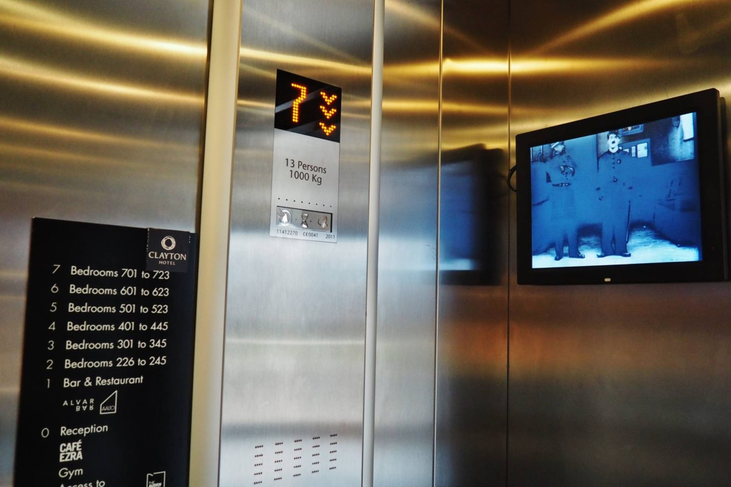 Clayton Hotel Lift Films