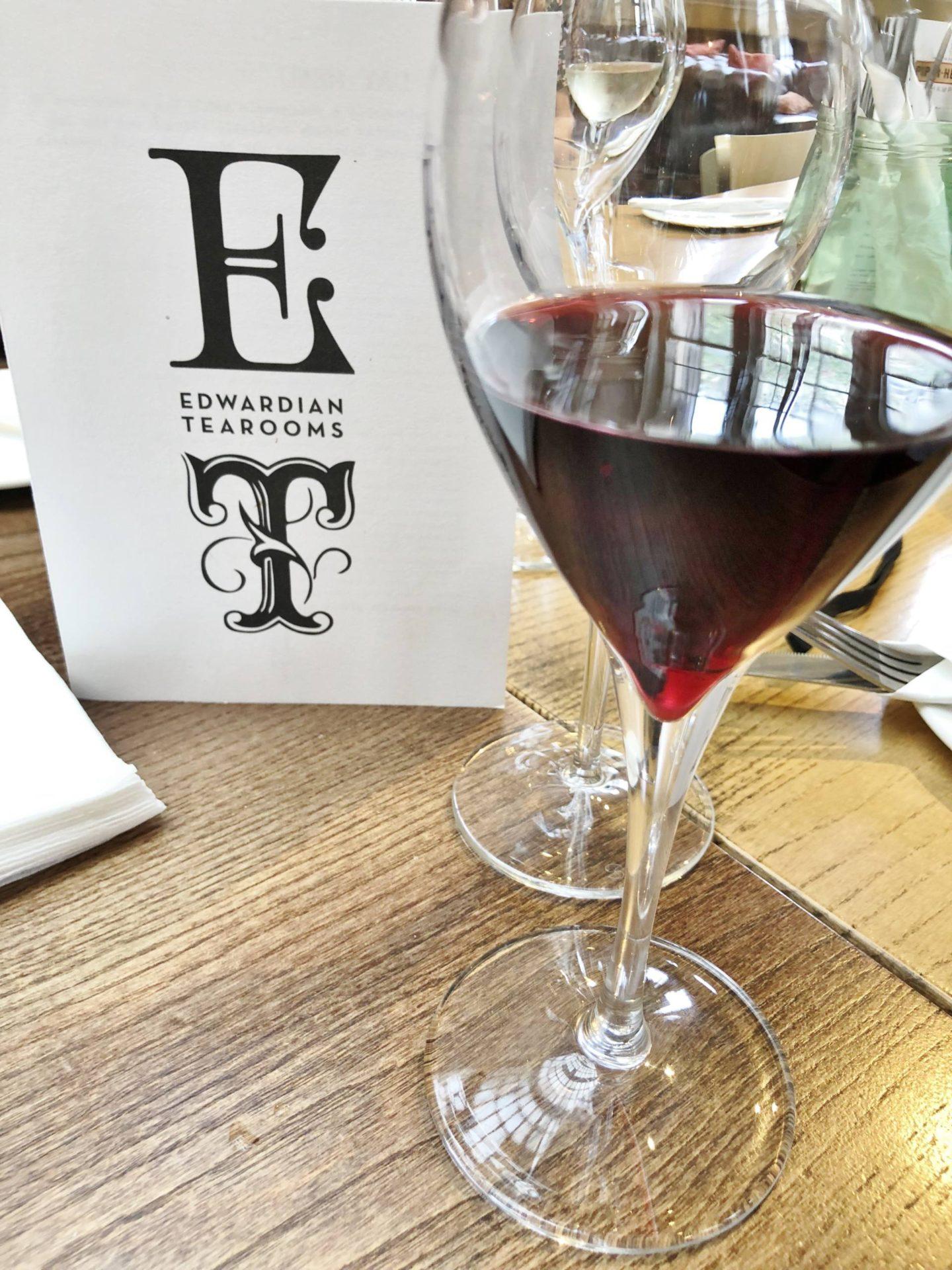 Edwardian Tearooms Birmingham Sunday Roast Red Wine