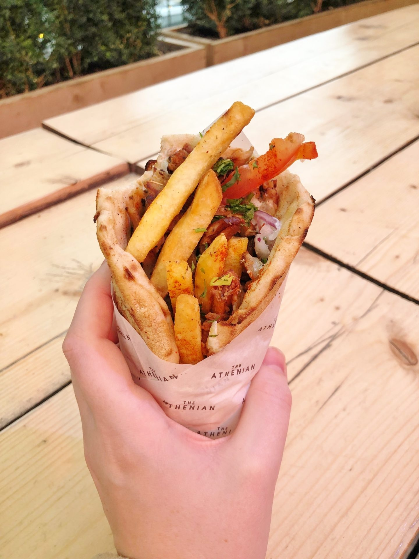 The Athenian London Pork Gyro