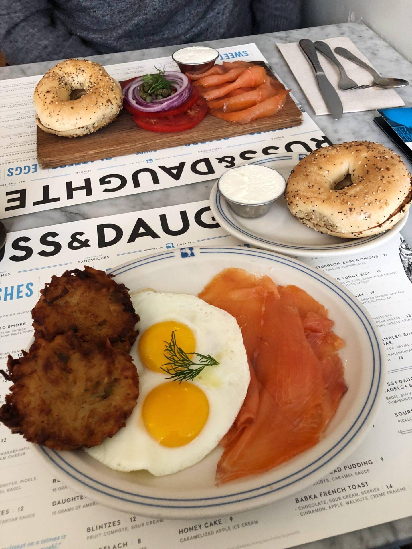 Russ & Daughters Lower East Side Lower Sunny Side Breakfast