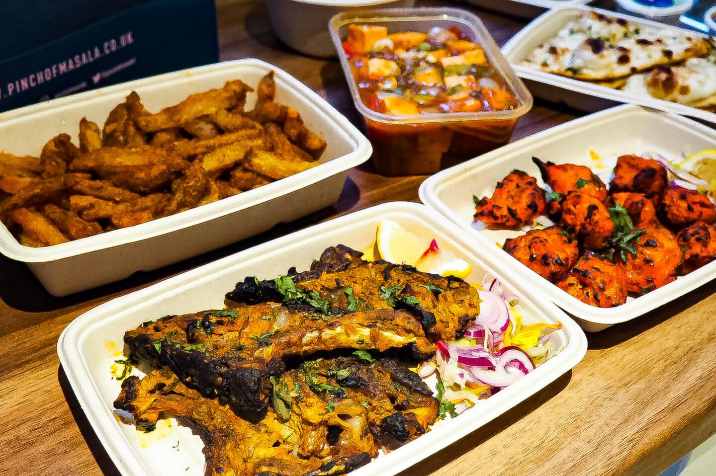 Lamb chops, tandoori soya, masala chips and chilli paneer - Pinch of Masala