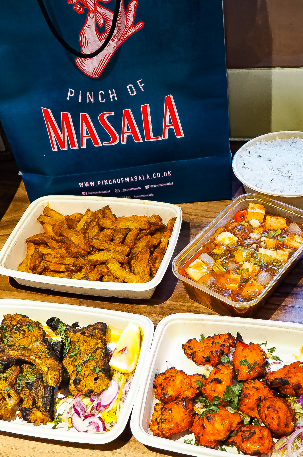 Pinch of Masala Bag and Food
