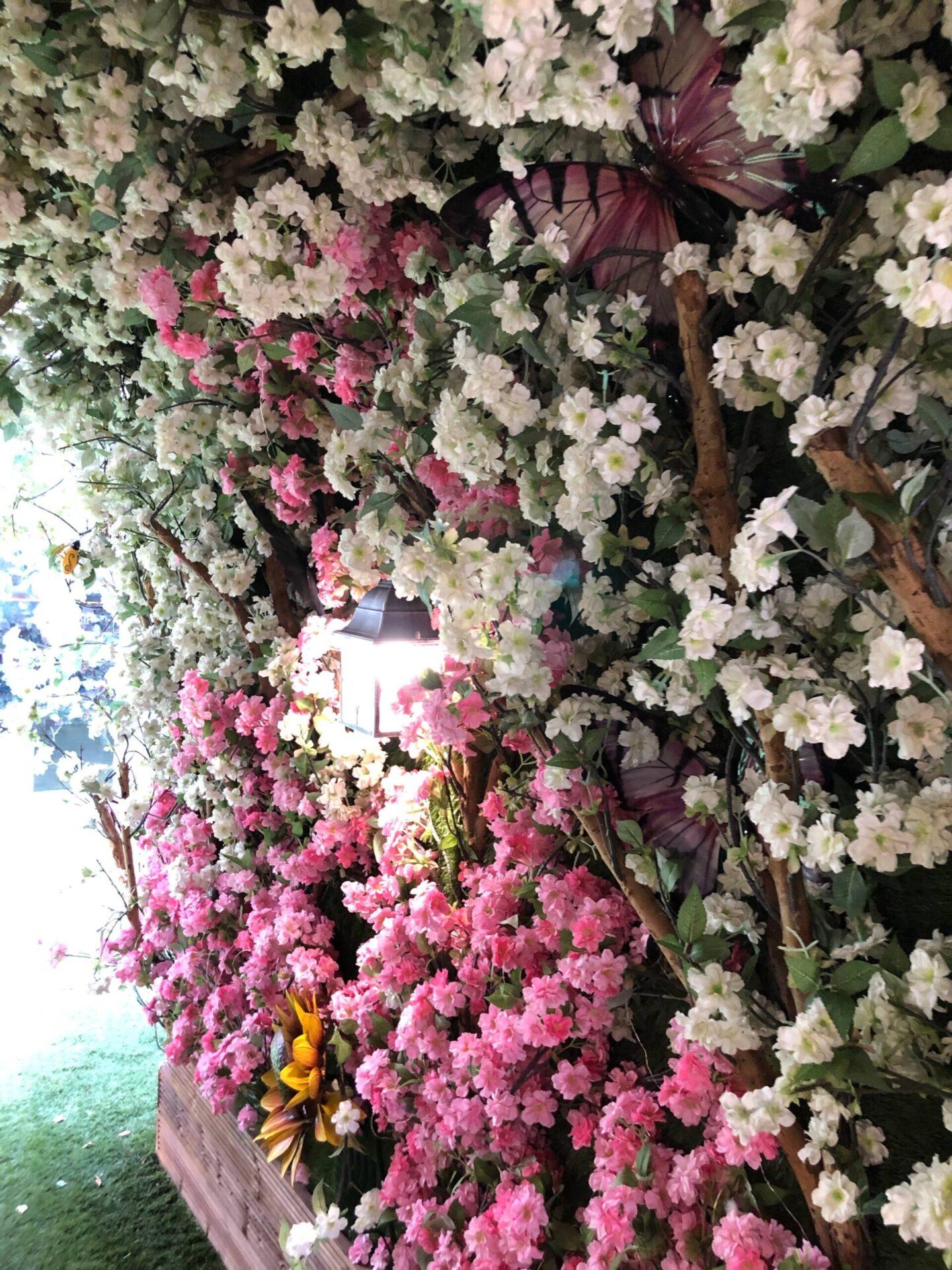 Craft Dining Birmingham flower wall