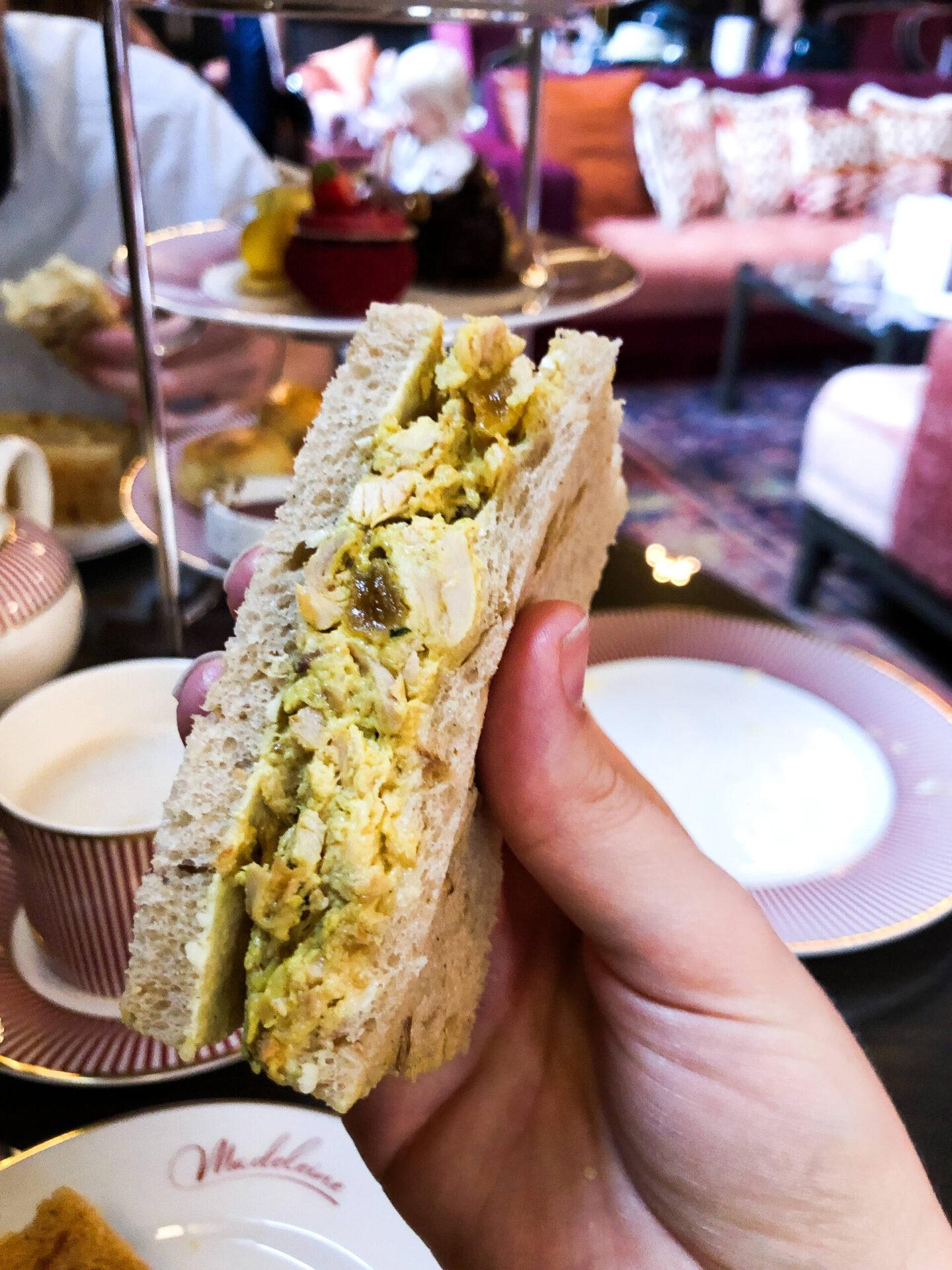 The Grand Hotel Madeleine Bar Birmingham Afternoon Tea Sandwiches