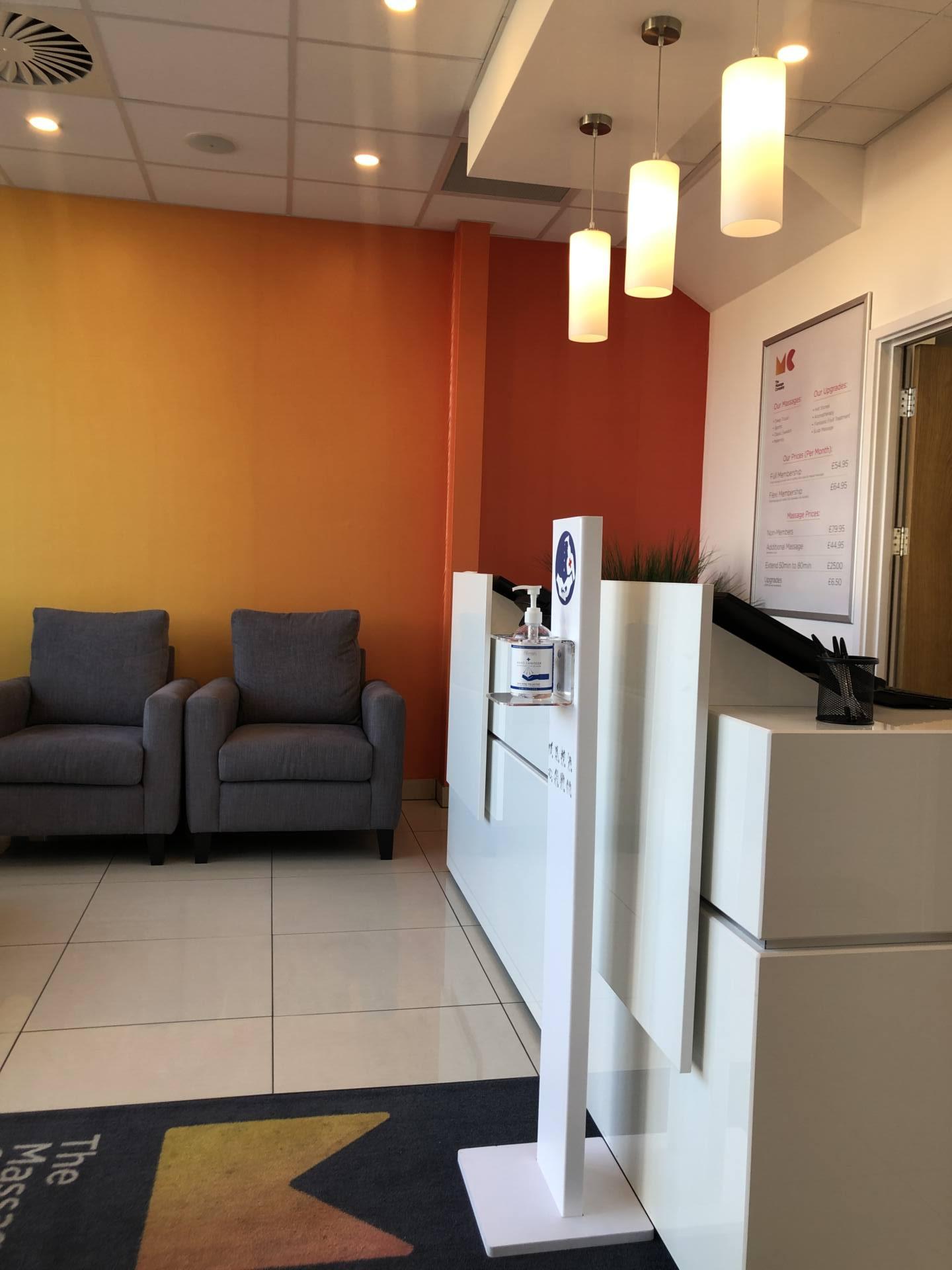 Emma Victoria Stokes - The Massage Company Reception Area