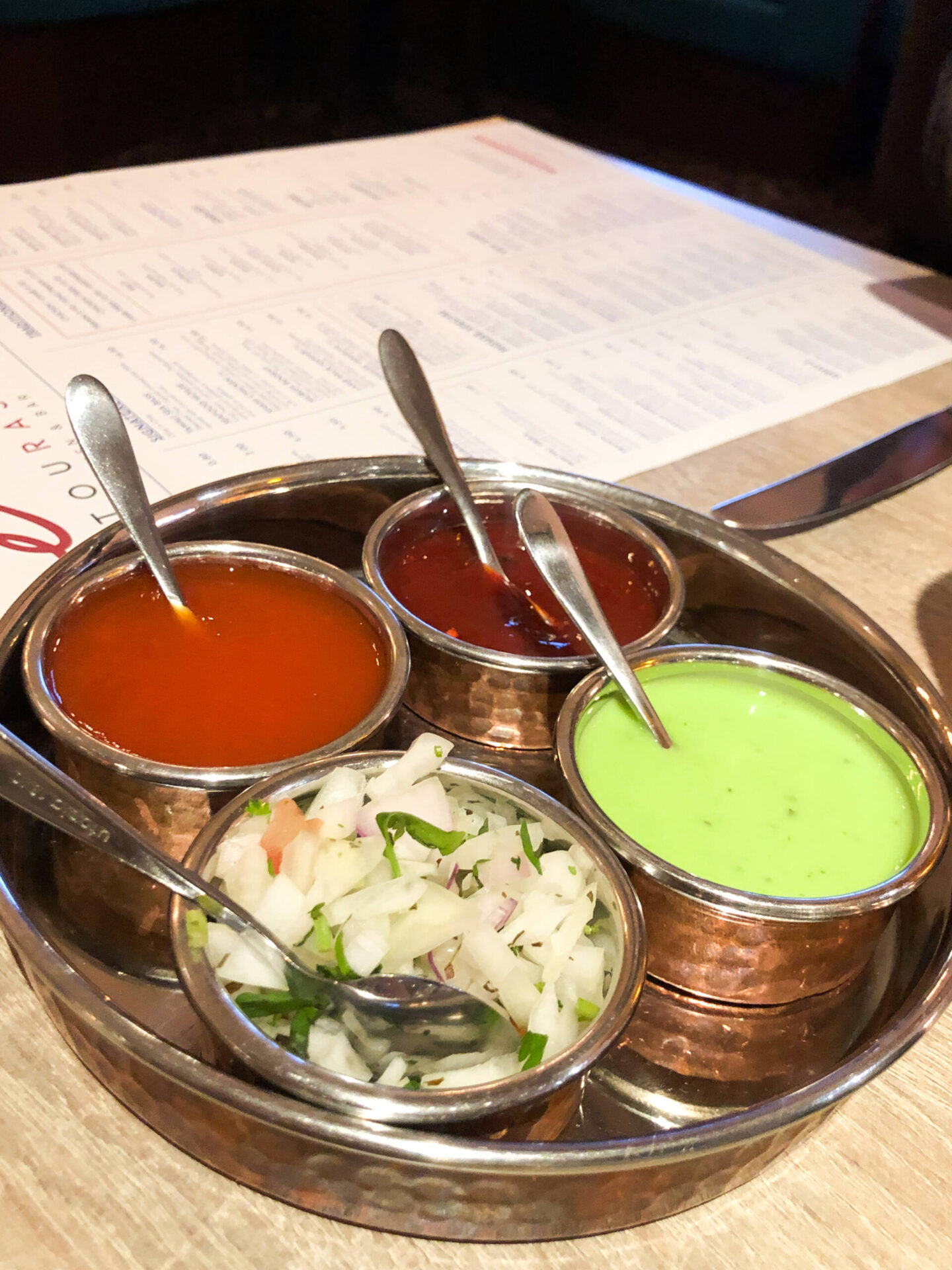 Entouraj - Droitwich Indian Restaurant Chutney Dips