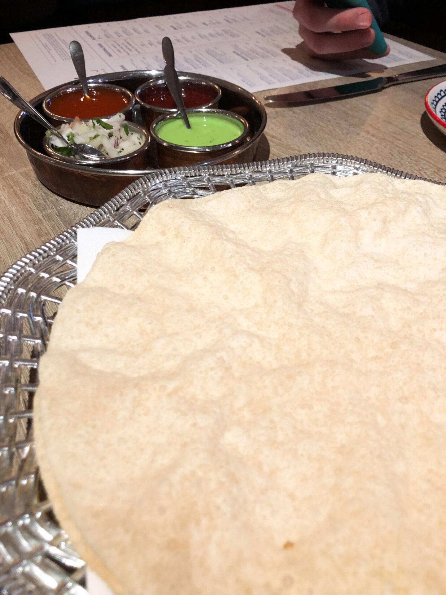 Entouraj - Droitwich Indian Restaurant Pappadoms