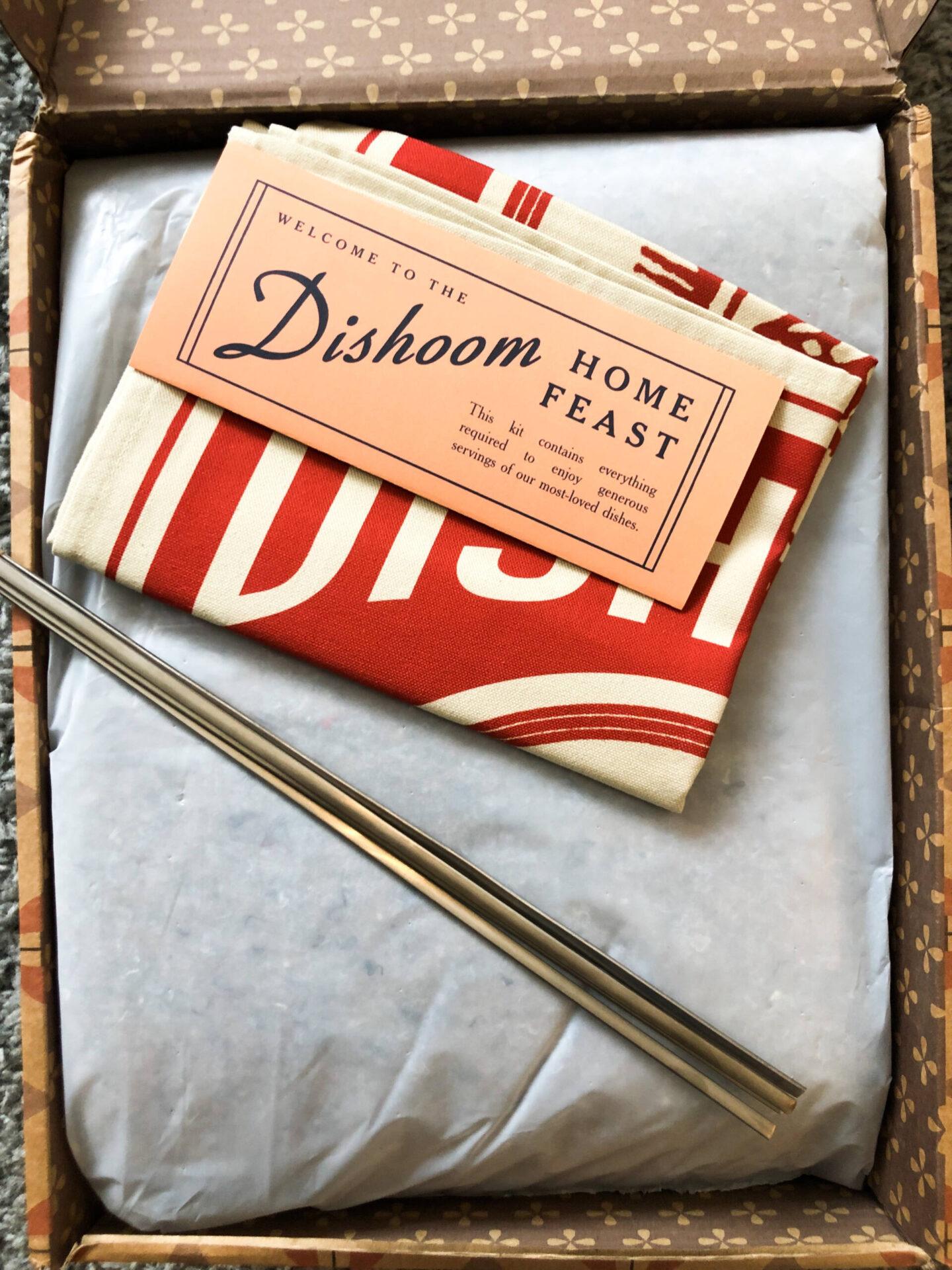Dishoom Feast Kit Tea Towel & Skewers